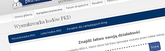 wyszukiwarka kodów pkd